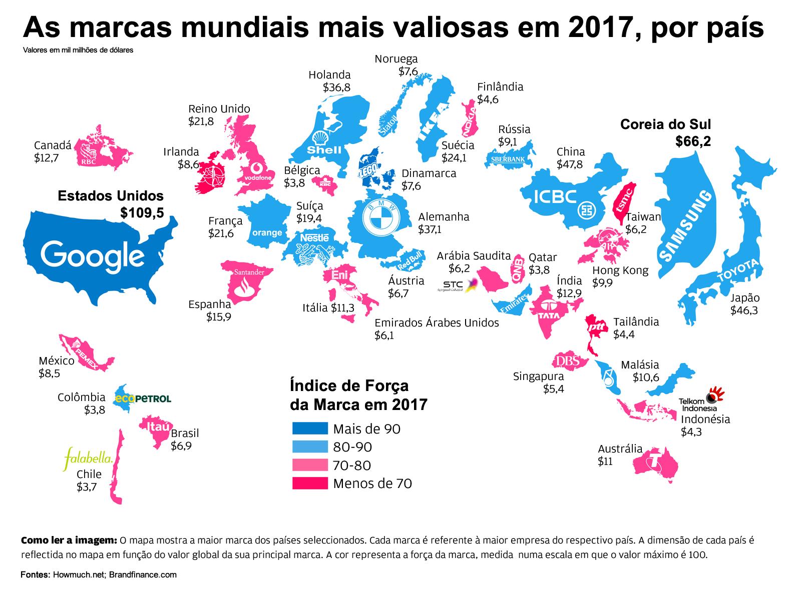 Conhe 231 A As Marcas Mais Valiosas Do Mundo Em Cada Pa 237 S